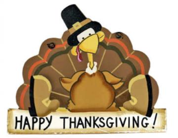 Thanksgiving Holiday- November 22 & 23