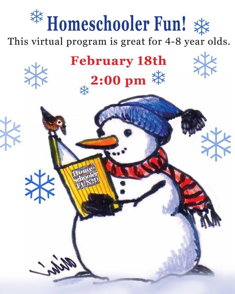 Homeschooler Fun! program-February 18th at 2 pm