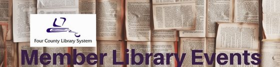 Four County Library System Member Library Events