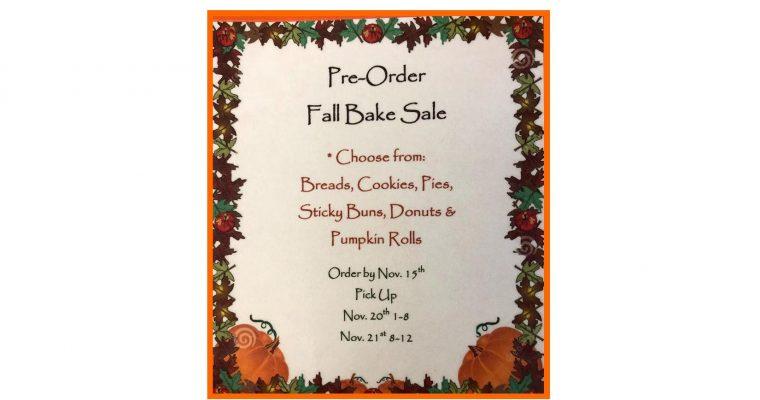 Pre-Order Fall Bake Sale