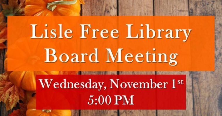 November Library Board Meeting