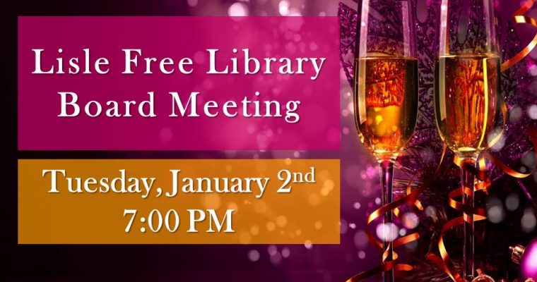 January Library Board Meeting