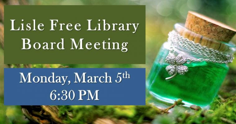 March Library Board Meeting