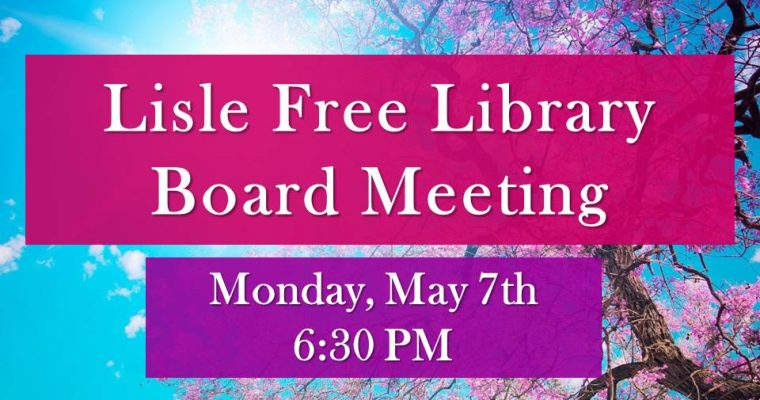May Library Board Meeting