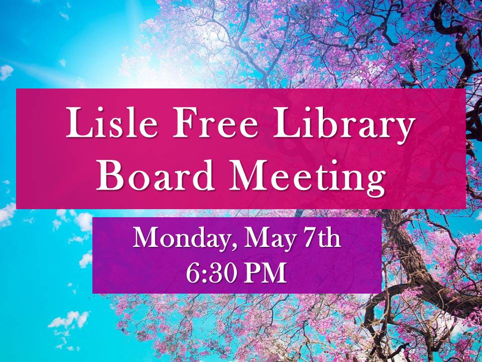 May Library Board Meeting