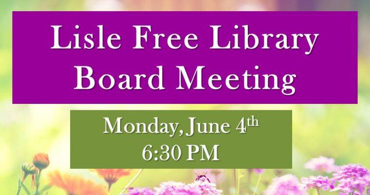 June Library Board Meeting