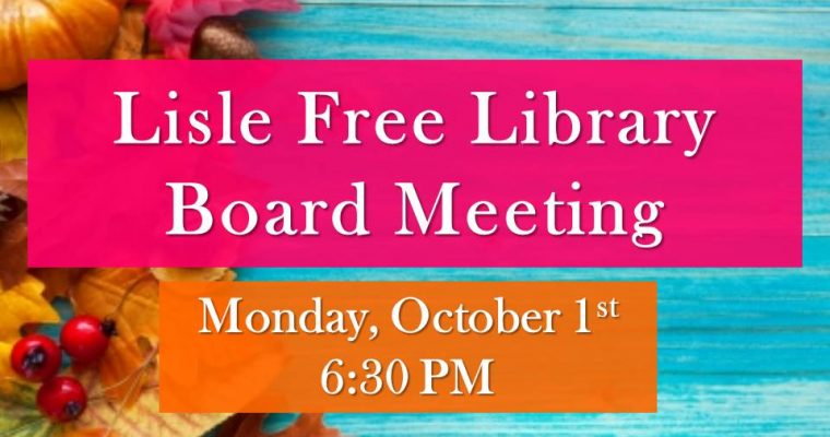 October Library Board Meeting