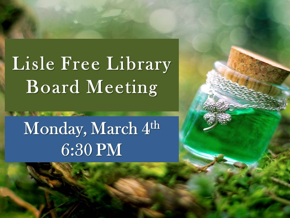 March Monthly Board Meeting