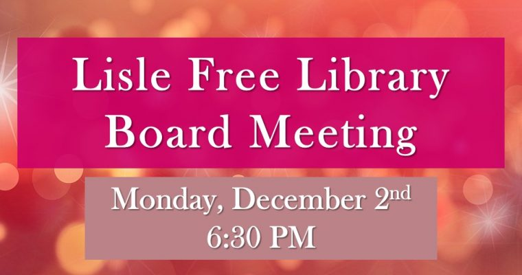 December Board of Trustee Meeting