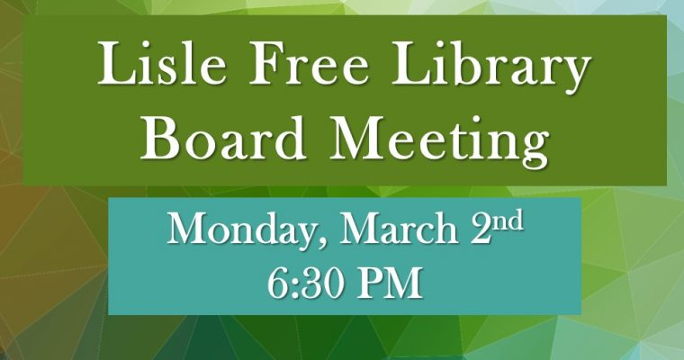 March Board of Trustee Meeting