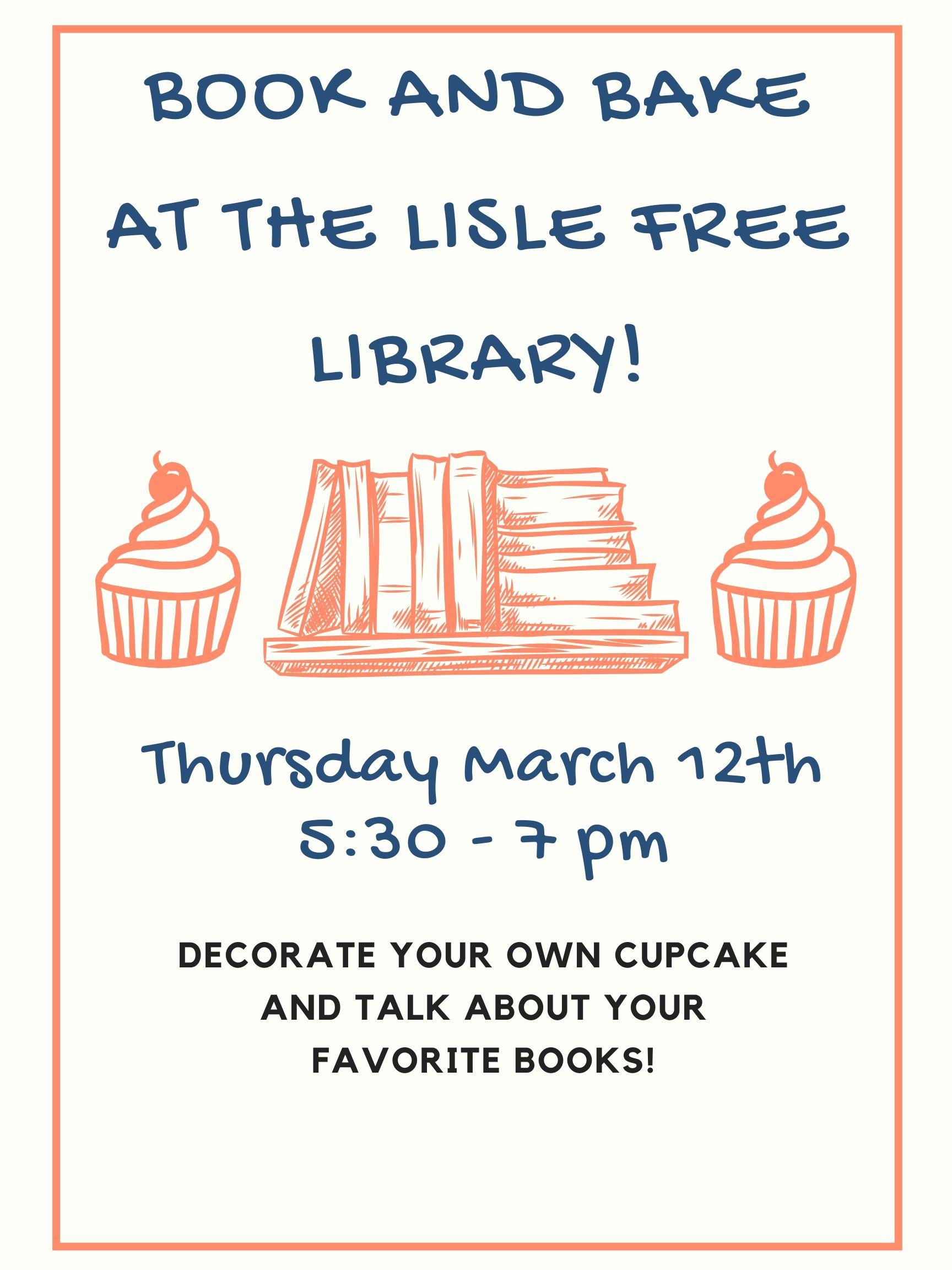 Book & Bake (w/ Cupcakes!)