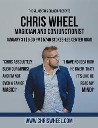 The Magician Chris Wheel - July 19 @ 6:30
