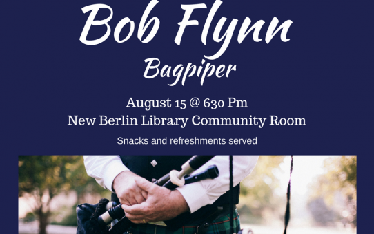 Bagpiper to perform 8/15/18