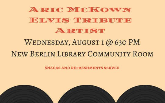 Elvis Tribute Artist to Perform at The New Berlin Library