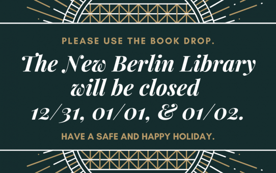 Library closed 12/31-1/3