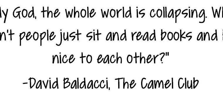 We agree, Mr. Baldacci