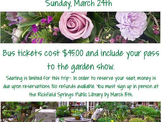 We are doing a bus trip to the flower & garden show!
