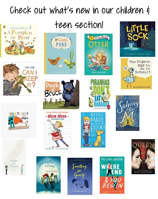 New in our children & teen section