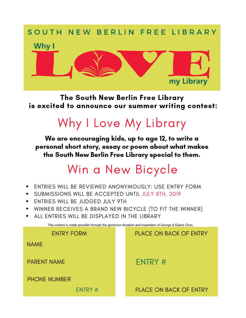 Why I Love My Library – South New Berlin Free Library
