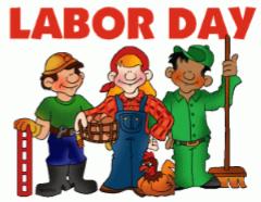 Labor Day- September 3