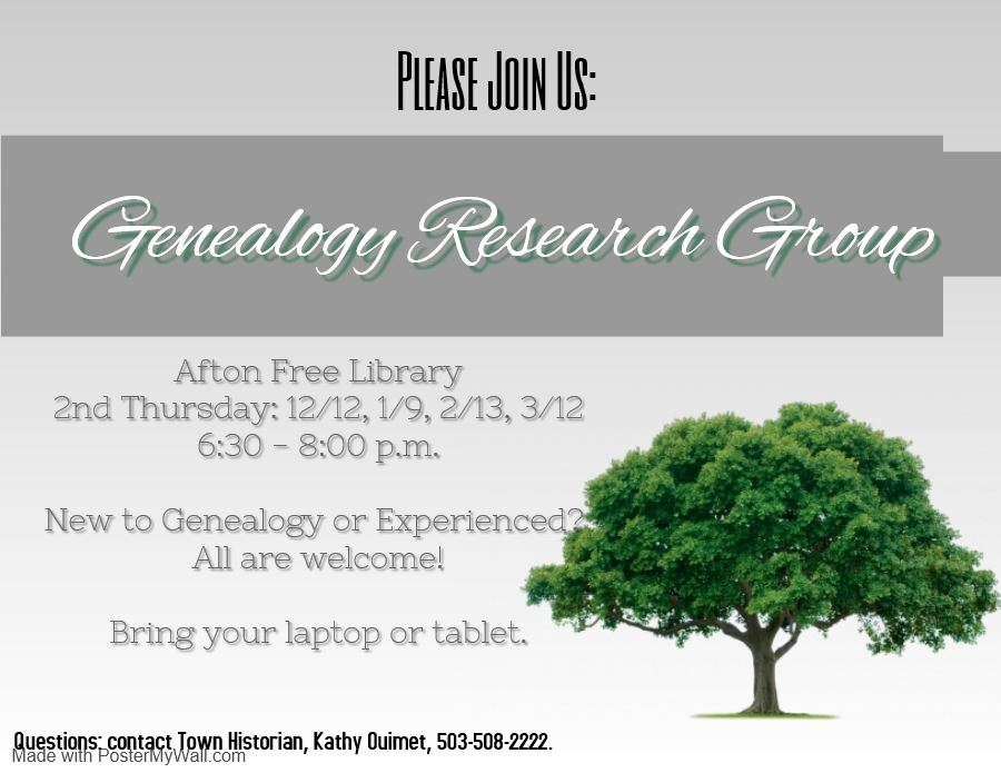 Genealogy Research Group-Now Every Month!