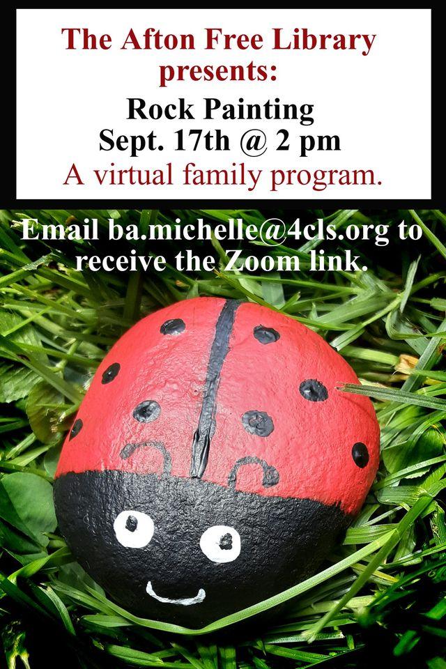 Virtual Family Progam- Rock Painting: September 17th