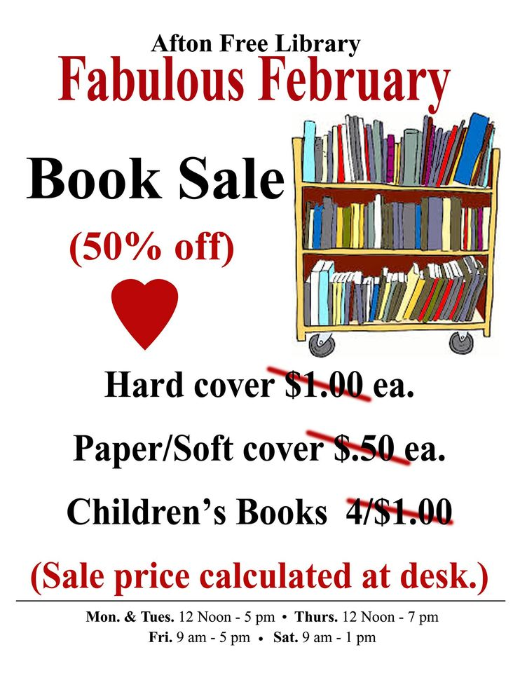 Fabulous February Book Sale- This Month!
