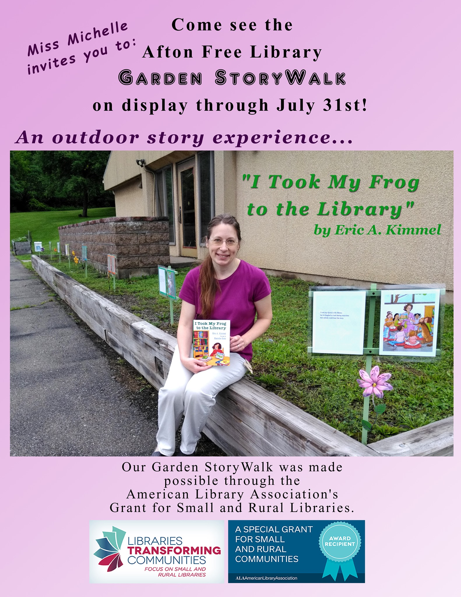 Garden Storywalk is on display through the month of July.