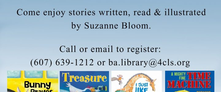 Children's author Suzanne Bloom visits the Afton Free Library – October 23