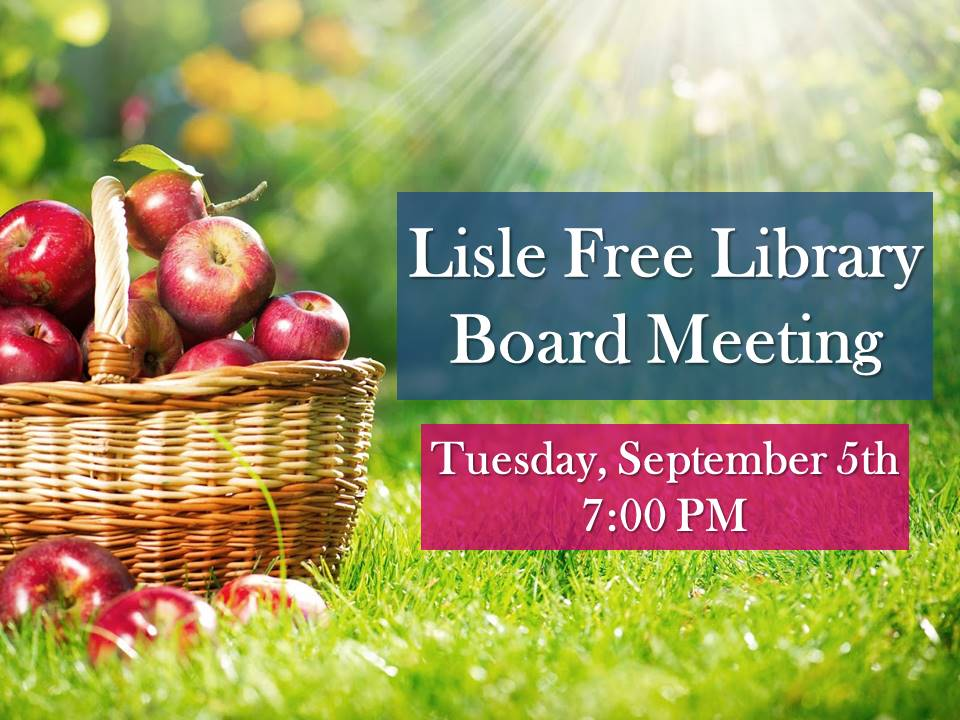 September Library Board Meeting