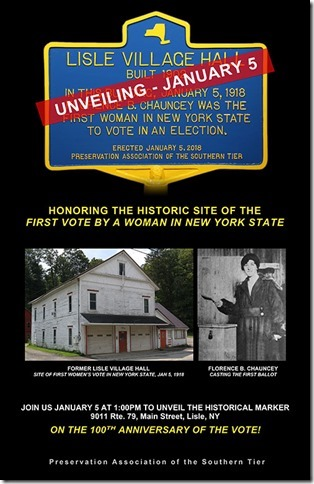 Unveiling Ceremony for Village Hall Historical Marker