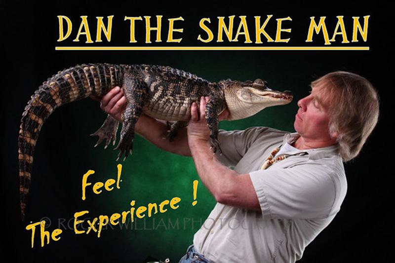"""Dan the Snake Man's """"Reptile Show"""""""