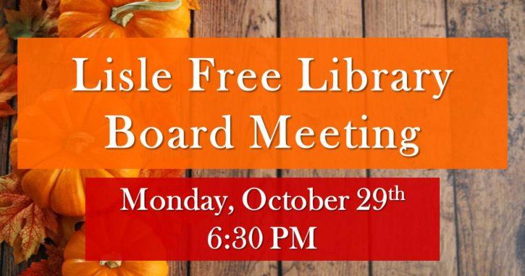 November Library Board Meeting