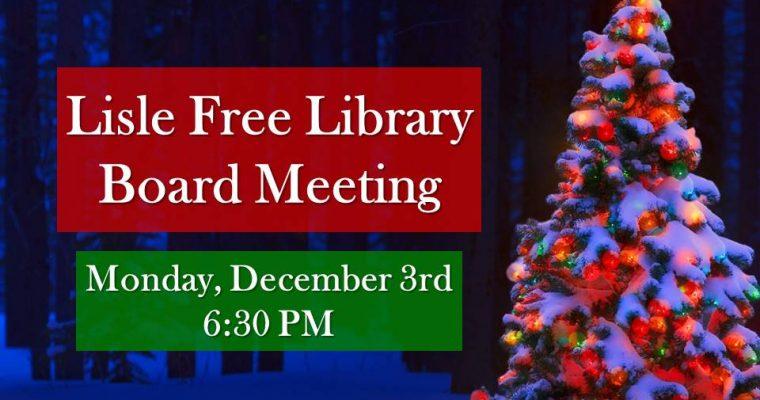 December Library Board Meeting