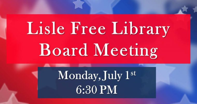 July Board of Trustee Meeting