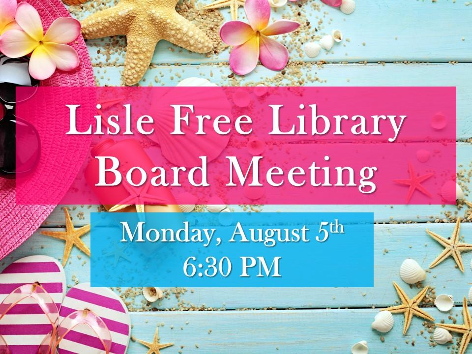 August Board of Trustee Meeting
