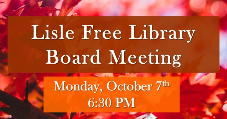October Board of Trustee Meeting