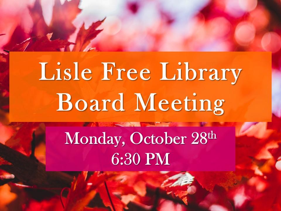 November Board of Trustee Meeting