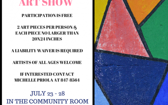 Art Show at the Library  July 23-28