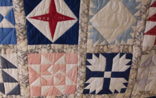1911 Quilt on Display