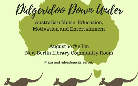 Didgeridoo Down Under  to perform 8/10/18