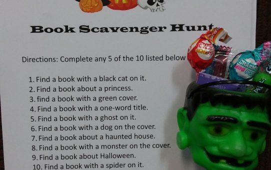 Halloween Book Scavenger Hunt