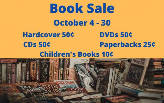 Book Sale Oct 4-30