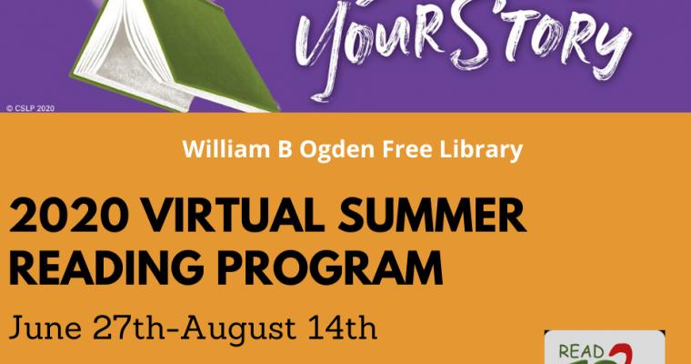 2020 Virtual Summer Reading Program – Imagine Your Story