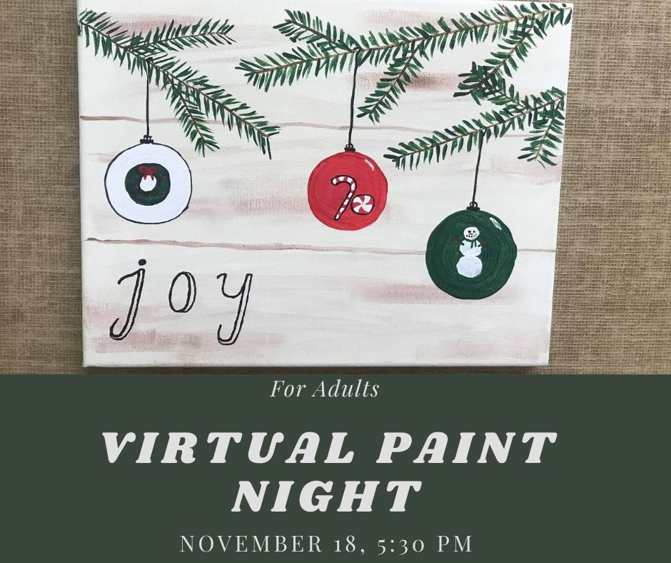 Virtual Paint Class for Adults and Teens